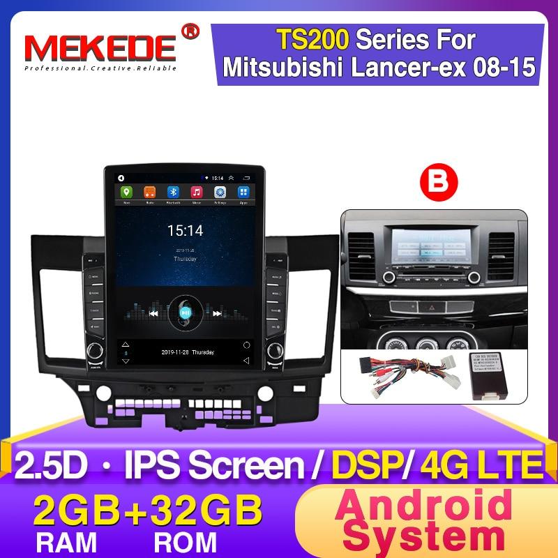 MEKEDE Tesla Style 2.5D IPS  Screen DSP Car Radio Multimedia Video Player Navigation GPS For Mitsubishi Lancer-ex 2008-2015