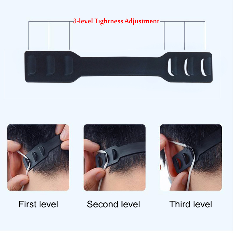 Ear Saver Free For Wearing A Mask  Rope Connector Adjustment Buckles Ear Rope Extension Buckles Mask Hook Mask AccessorIies