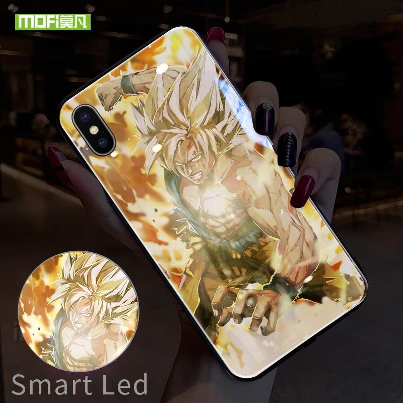 Goku case dropshipping Mofi Smart Led Phone Case For iPhone 6 6s plus 7 8 plus XR XS MAX Case