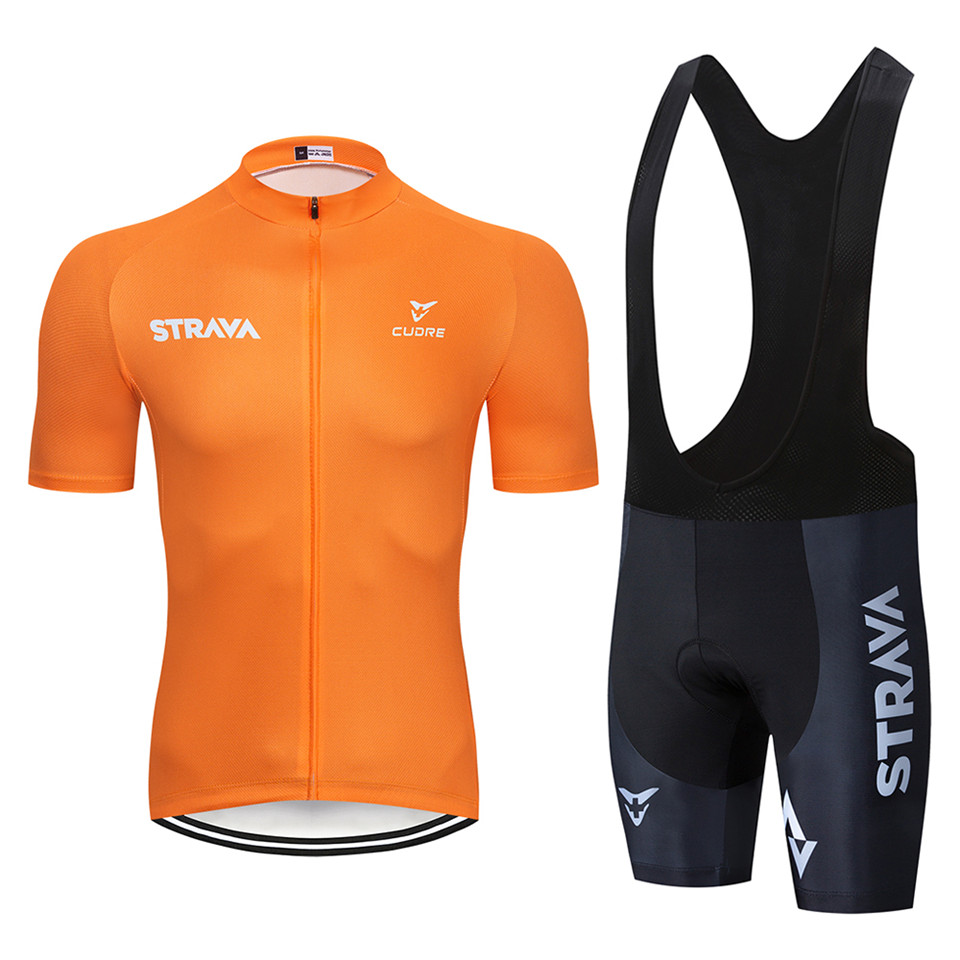 2019 <font><b>STRAVA</b></font> Pro Team summer cycling Jersey set Bicycle Clothes Breathable Men Short Sleeve <font><b>shirt</b></font> <font><b>Bike</b></font> bib shorts image