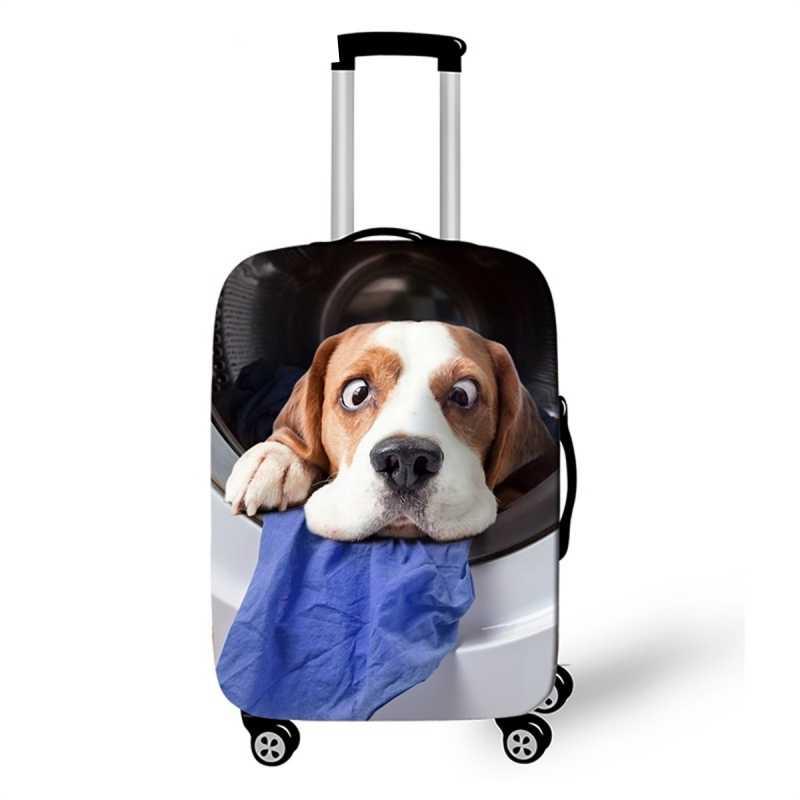 Kawaii Dog Catสัตว์กระเป๋าเดินทางสำหรับ 18-30 นิ้วTrunkกรณียืดหยุ่นสัมภาระกระเป๋ากระเป๋าเดินทางป้องกันกระเป๋าเดินทางอุปกรณ์เสริม