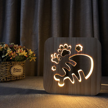 Fish bone warm LED night light solid wood pine carved hollow table lamp creative USB decorative mood bedroom table light gift 8pcs lot creative 100% solid wood sepak takraw colorful led night light children s bedroom bedside led table lamp birthday gift