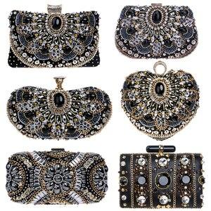 Image 1 - SEKUSA Vintage style femmes perlées sacs de soirée broderie petit jour embrayages mariage mariée sacs à main diamants case sac à main