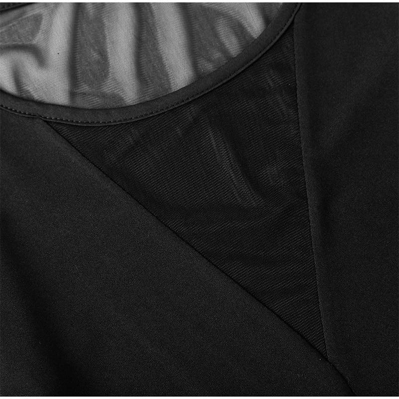 Blusa feminina sensual de manga comprida, decote