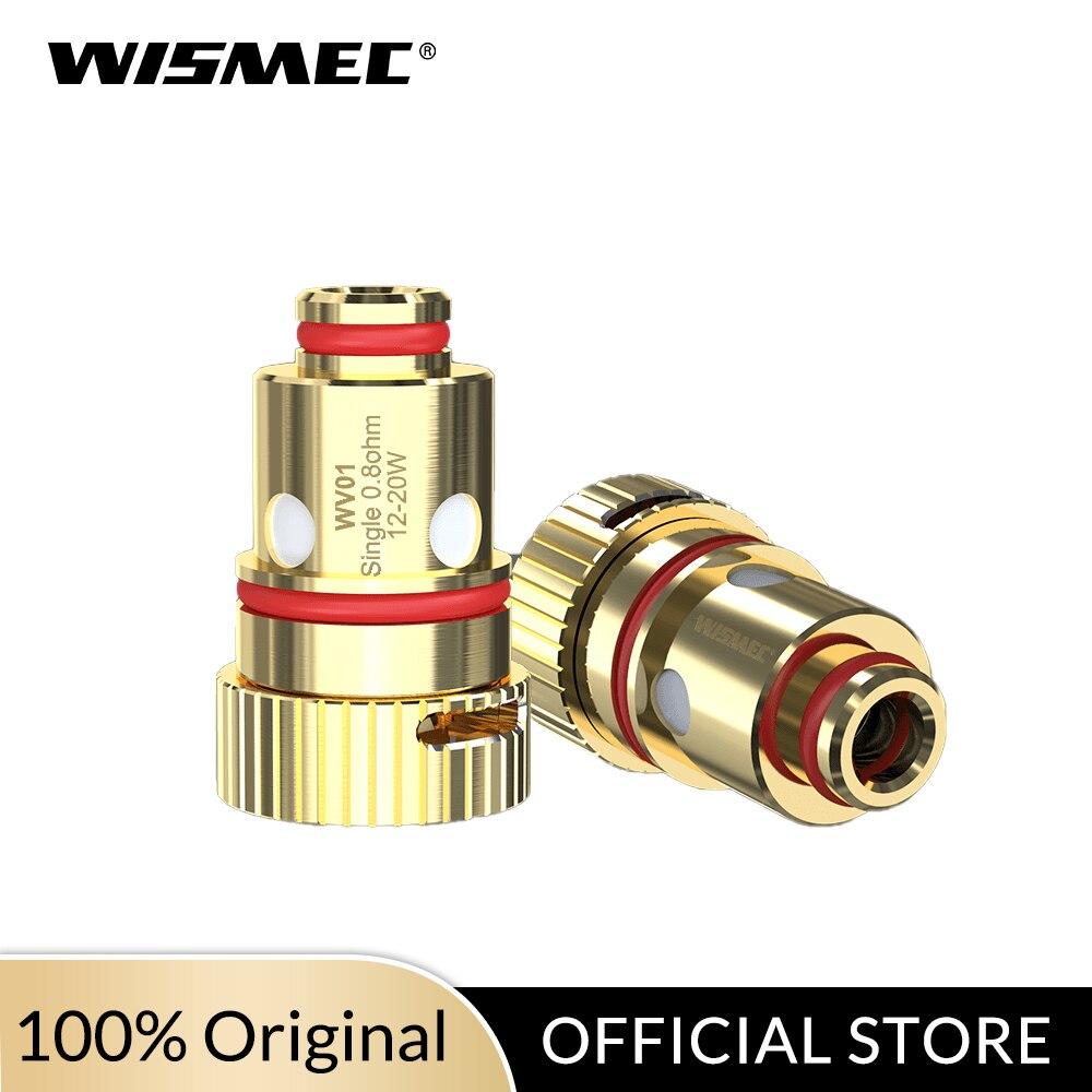Original Wismec Coil WV-M 0.3ohm/WV01 Single 0.8ohm Coil For R80 Kit Electronic Cigarette Coil Head 5pcs/lot