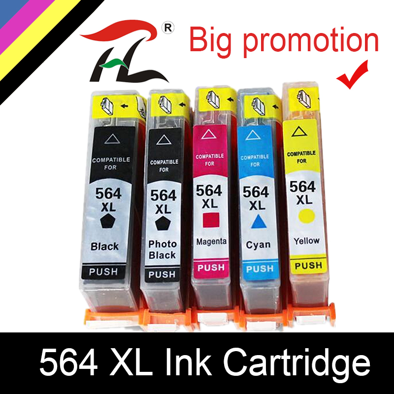 HTL 564XL Ink Cartridge For Hp 564xl 564 Compatible For HP Photosmart B8550 C6324 C310a C410 6510 D5460 7510 B209a 4610 3070A