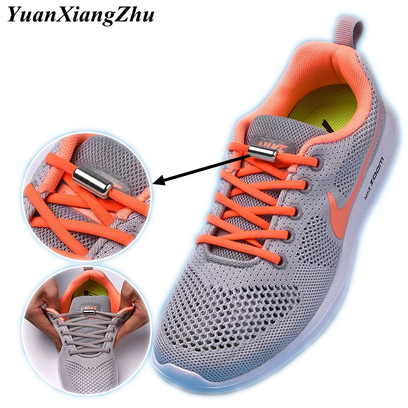 1Pair Fashion No Tie ShoeLaces 19 Colors Semicircle Elastic Shoe Laces Unisex Lazy Laces Kids Adult Sneakers Shoelace Strings