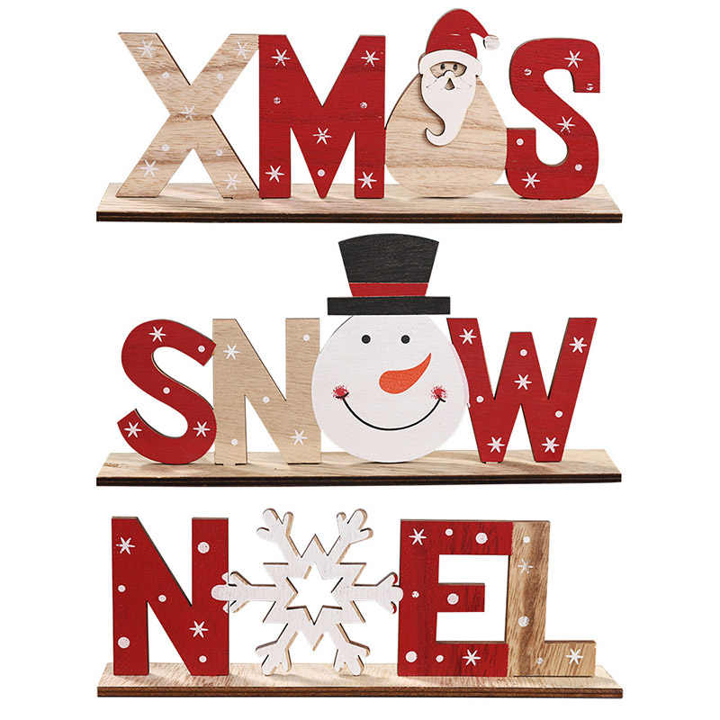 Weihnachten Holz Dekoration Rentier Weihnachten Baum Form Splice Ornament für Weihnachten Home Decor Neue Jahr Kinder Favors Geschenk Liefert