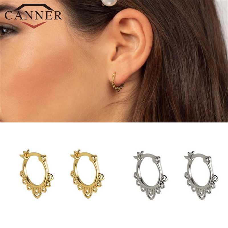 INS-pendientes minimalistas de plata de ley 925 con hebilla de oreja, pendientes de círculo pequeño para mujer, aretes redondos de oro plata minúsculo, joyería para niña