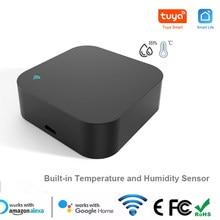 Smart Home Mini Wifi IR Remote Control Universal Remote Built-in Temperature Humidity Sensor Tuya Smart Life Alexa Google Home