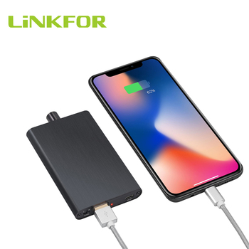 LiNKFOR Hifi Headphone Amplifier 16-300Ω With Buit-in Power Bank 3000mAh battery Earphone Amplifier With Bass Effect For Phone image