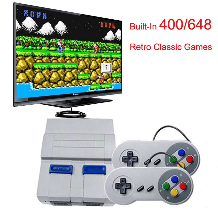Video Game Console 8/ <font><b>16</b></font> Bit SNES Classic Gamepad Retro Game HDMI/AV HD Out TV Handheld Game Player Built-In <font><b>400</b></font>/648 Games image