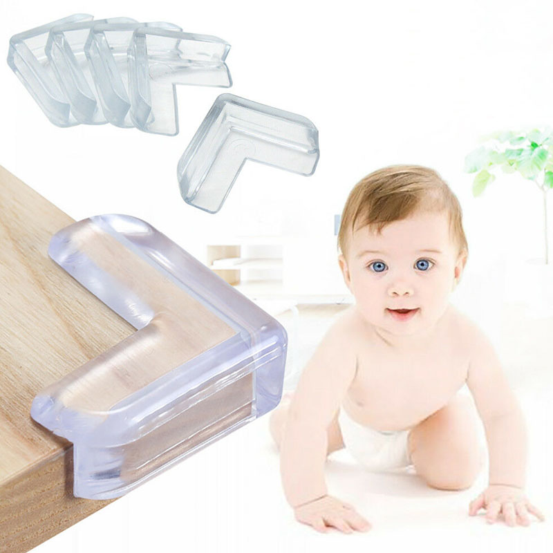 120pcs Furniture Table Corner Cushion Protectors Baby Child Safety Guard Desk Edge Cover Clear Anti Collision Protection Cap