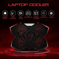 5pcs LED Fans Laptop Cooler Cooling Pad High Speed Radiator with Low Voice 2.0 Adjustable Notebook Holder Radiator|Fans & Cooling Accessories| |  -