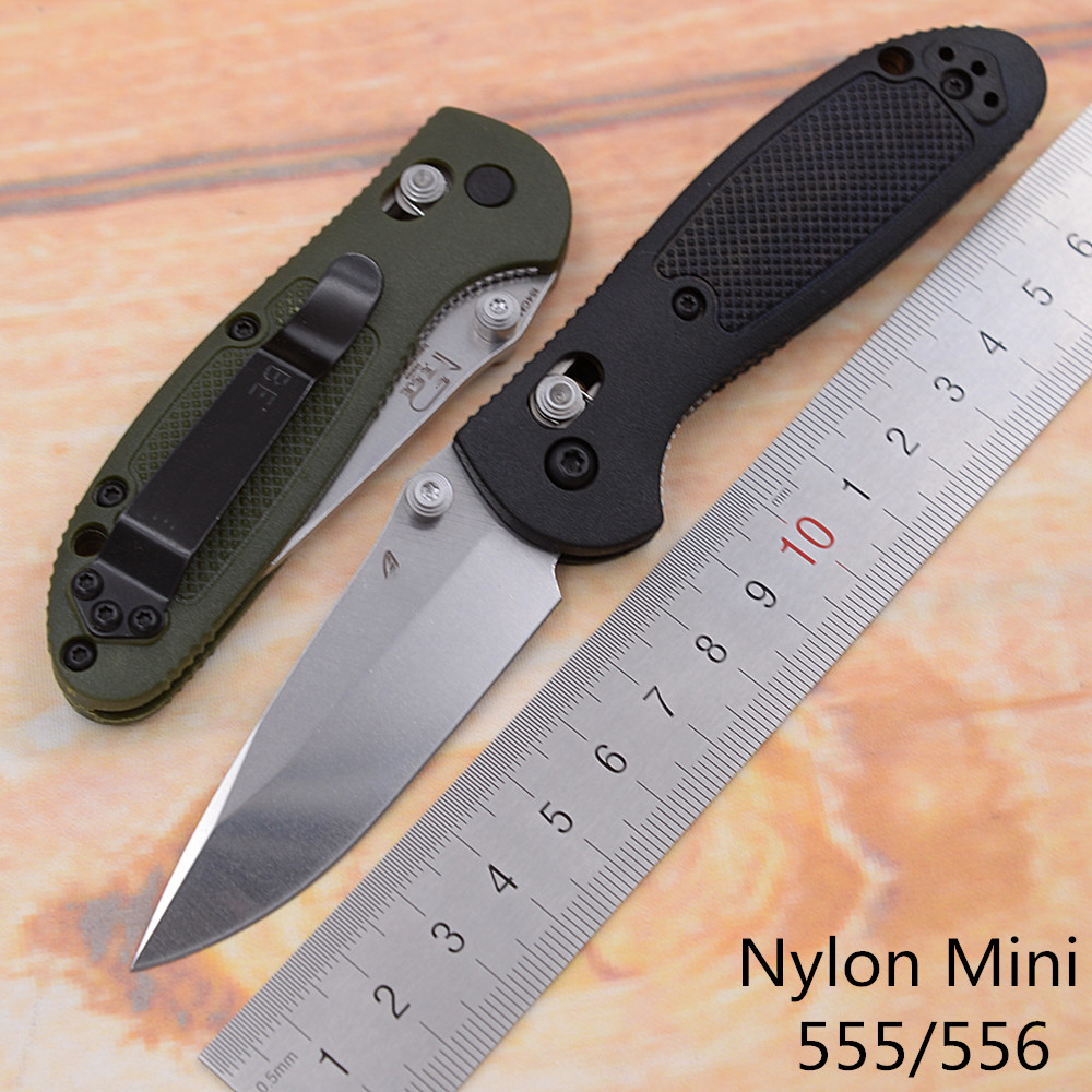 JUFULE Made Mini 556   555 Mark 154CM Blade nylon handle folding Pocket Survival EDC Tool outdoor kitchen camping hunting knife