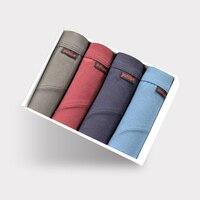 DEWVKV Men's Panties Cotton Men's Underwear Boxers Breathable Mens Boxer Solid Underpants Comfortable Brand Shorts The New LPY