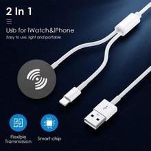 Carregador portátil cabo para iwatch 6 se 5 4 carregador usb de carregamento cabo para apple assistir série 5 4 3 2 1 para iphone ipad