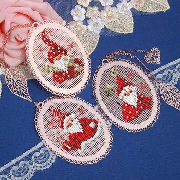 TT Santa Claus boda conejo amigos de Stich Cruz puntada marcador bordado artesanía Cruz costura Kit