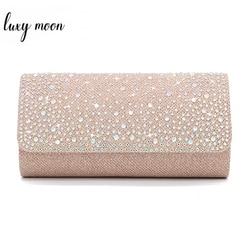 Luxy Moon Women Party Bag Wedding Purse Crystal Clutches Envelope Evening Bag Fashion Design Chain Shoulder Bags Wallet ZD1457