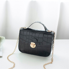2020 Fashion Women Small Crossbody Bag Classic Crocodile Pattern Shoulder Handbags Lightweight Chain Strap Messenger Purse