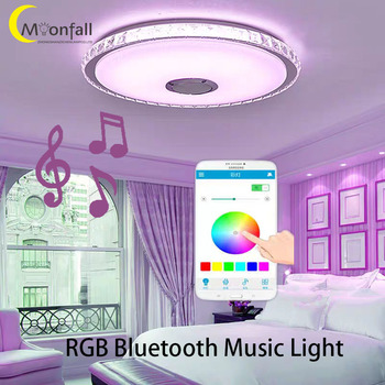good quality clear ring led ceiling lamp crystals flush mounted living room lights lampara led techo for home fast shipping Cmoonfall lampada com som bluetooth lampara led techo ceiling lights for room luzes de teto lamp bedroom plafonniers living room