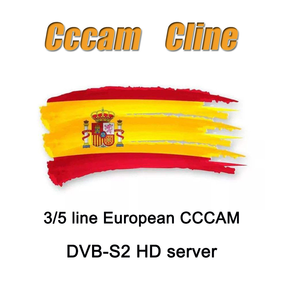 The Latest And Most Stable Cccams Of 2020 European Spanish Satellite TV Receiver 3/5 Line WIFI Full HD DVB-S2 Support Ccams