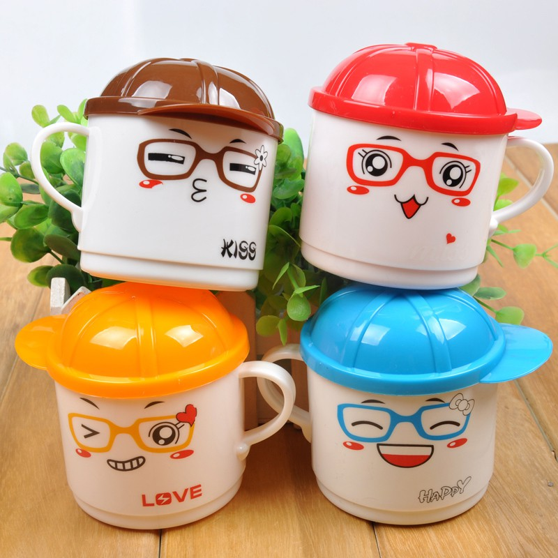 1Pc 200ml  Cartoon Baby Kids  Milk Water Tea Cup Safety PP Plastic Mug Cups Random Color