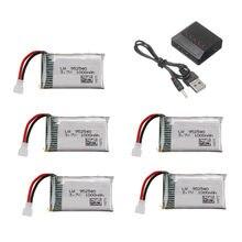 3.7v Bateria para Syma X5 X5C X5SC X5SW TK M68 MJX X705C SG600 Zangão RC Peça De Reposição 3.7V 1000mAh 952540 Lipo Carregador de Bateria Set