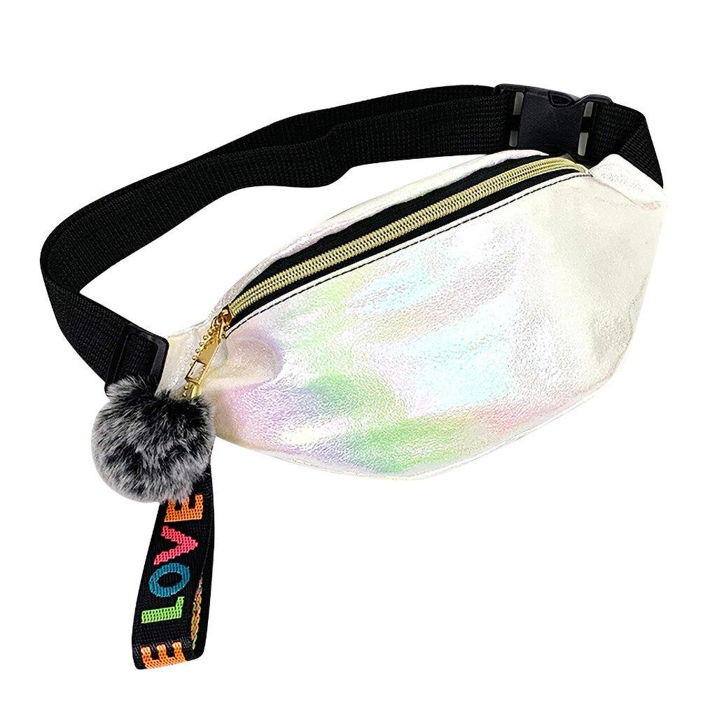 Sequins Pack 2019 New Waist Pack Fashion Women's Laser Chest Waist Bag Women Belt Bag Feminina Shoulder Bags