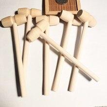 Mini martelo de madeira bolas brinquedo pounder marretas substituição bebê para marisco lagosta caranguejo couro jóias artesanato