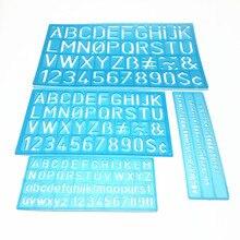 Template Ruler Alphabetic Multi-Functional-Suit Digital