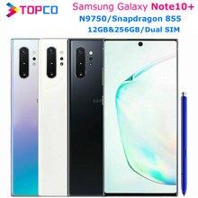 Samsung Galaxy Note10 + Note10 más N9750 Original teléfono móvil Dual SIM Snapdragon 855 Octa Core 6,8