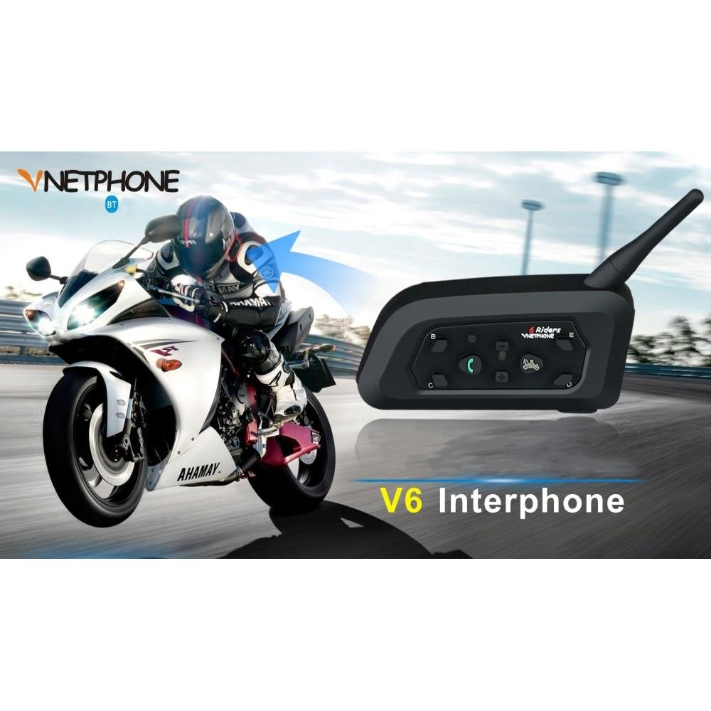 Universal Two Wireless Motorcycle Radio BT Walkie-talkie V6-1200 Waterproof Noise-proof Wind-proof Intercom