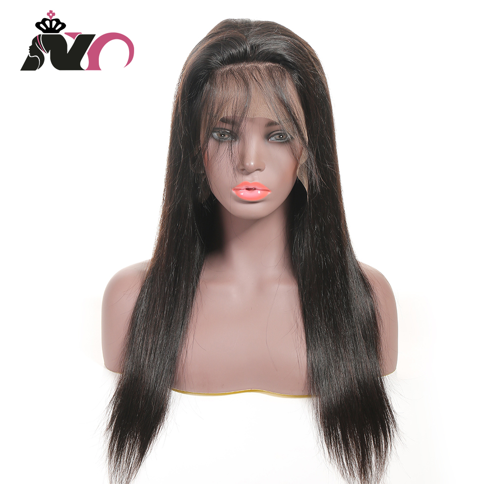 NY Hair 13*4 Lace Front 100% Human Hair Wigs Peruvian Straight Pre Plucked Baby Hair 8- 28 Inch Non Remy Hair Lace Frontal Wigs