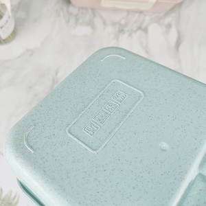Image 5 - Portable Stainless Steel Lunch Box Microwave Lunch Box Wheat Straw Dinnerware Adult Children Food Container Home Lunch Box