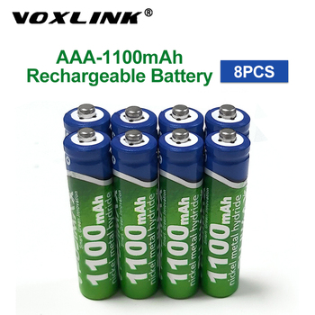 VOXLINK AAA Battery 1100mAh 1.2V 8PCS rechargeable battery pre-charged recharge ni mh rechargeable battery For camera microphone voxlink aaa battery 1 2v 1100mah 8pcs rechargeable battery pre charged recharge ni mh rechargeable battery for camera microphone