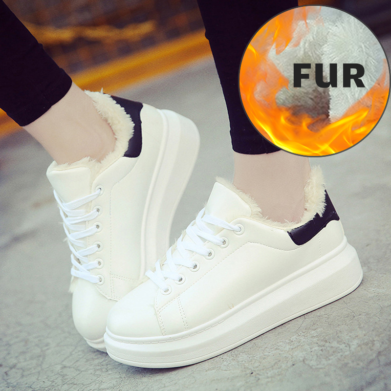 Women Sneakers 2019 Winter Women Casual Shoes Woman Fashion White Sneaker Women White Shoes Platform Shoes Zapatillas Mujer