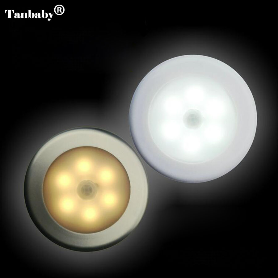 On/Off Battery Operated LED Night Lamp Smart Motion Sensor WC Night Light Bedside Lamp For Children Room Hallway Pathway Toilet