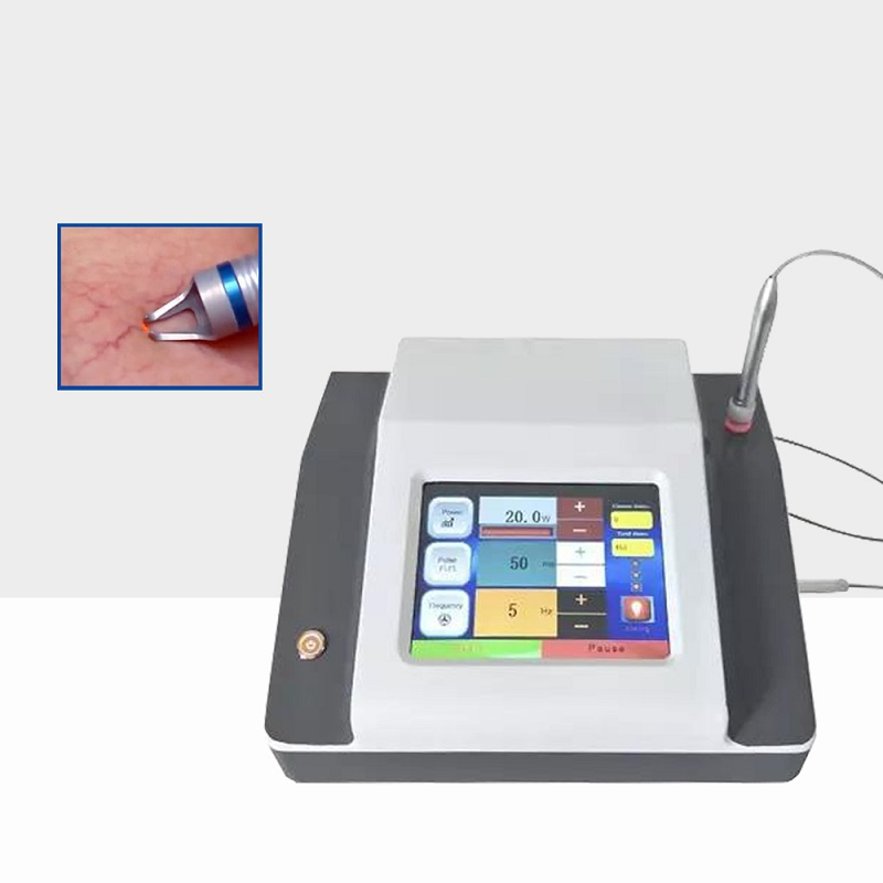 Portable 980nm Diode Laser Vascular Therapy Machine / Red Blood Vessels Spider Vein Removal 980 Nm