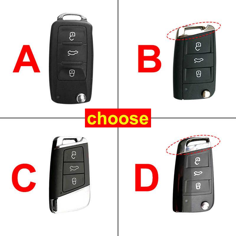 ABS plastik + silikon Araba Anahtarı Durum Kapak için VW Golf Bora Jetta POLO GOLF Passat Polo Golf 7 MK7 tiguan MK2 Magotan Passat B8 A7