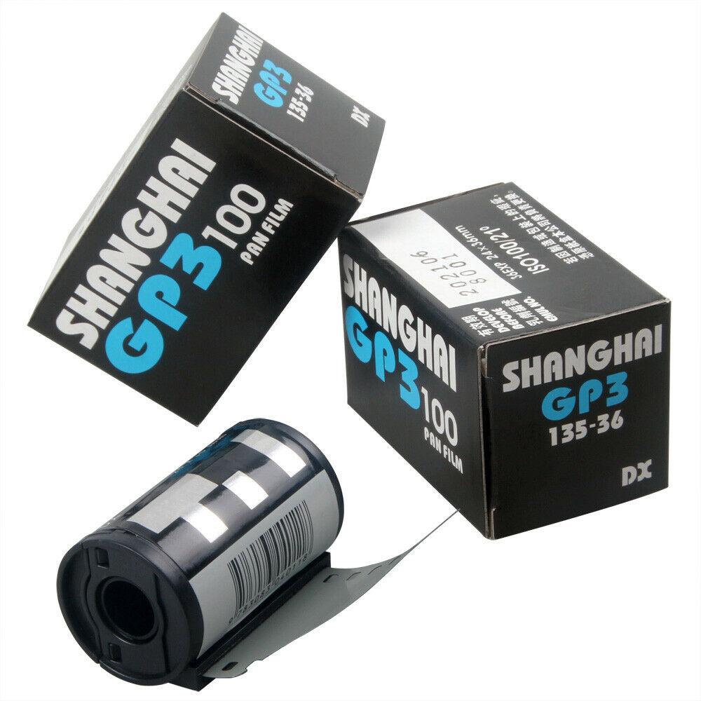Shanghai Black & White GP3 135/36 35mm Film DIN ISO 100 B/W B&W Freshest New 35mm Film Opener Film Case