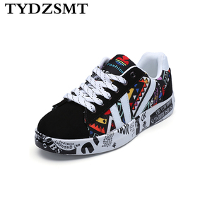 Image 1 - TYDZSMT 2020 קיץ אישה סניקרס לבן נעליים יומיומיות אוהבי הדפסת אופנה נשים שטוחות גופר נעלי Zapatos de mujer