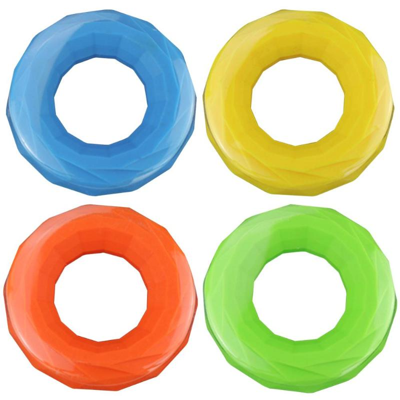 Galleria fotografica Durable Hand Grips Classic Delicate Texture Hand Gripper Grip Silicone O Shape Ring Finger Stretcher Hand Training Tool