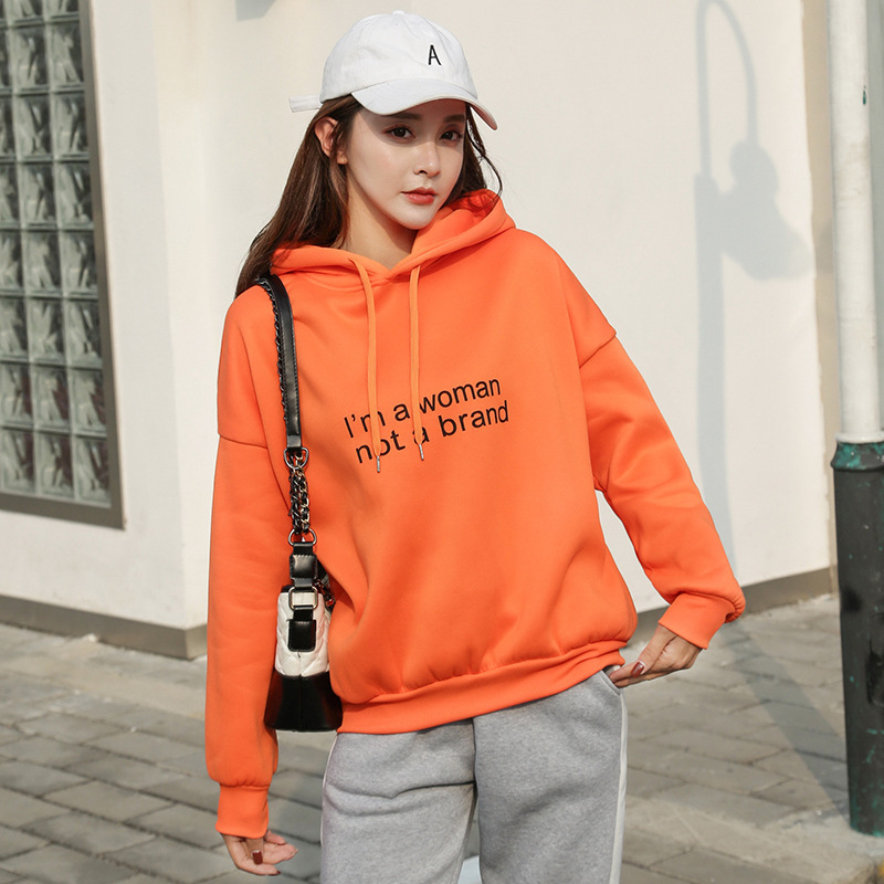 Hoodie Female Autumn New Style Loose-Fit Online Celebrity Students Large Size