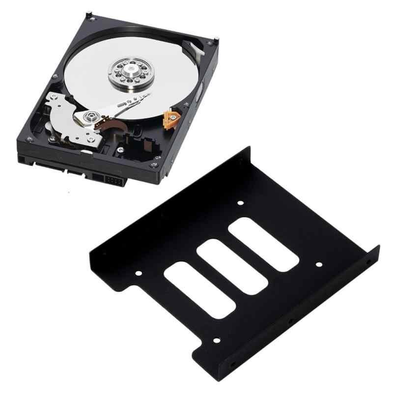 """Nowy 2.5 """"do 3.5"""" wewnętrzny dysk twardy SSD wnęka napędu Dock konwerter PC Adapter wspornika Kit konwerter Adapter taca ze śrubami"""