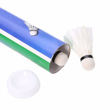 MrY 12 Pcs Durable Badminton Balls Goose Feather Shuttlecocks with Goose Feather White for Training Game Sport(China)