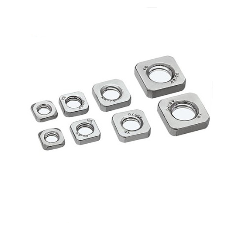 20-50pcs DIN562 Thin Nut M3 M4 M5 M6 M8  Stainless Steel Square Nuts