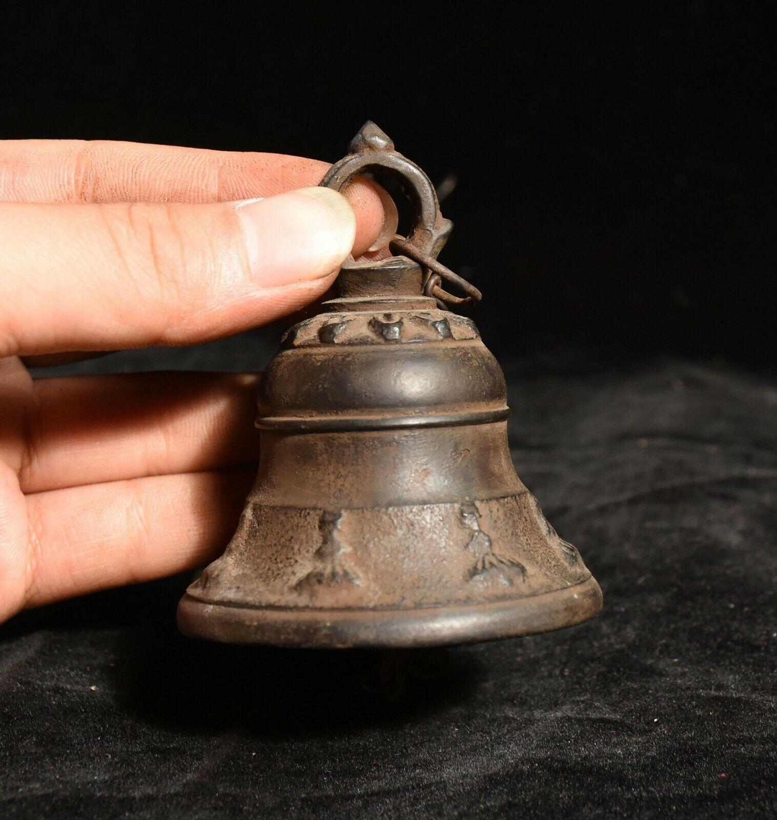 Decoración de boda antiguo Budismo Tibetano templo bronce campana colgante Zhong campana estatua - 6