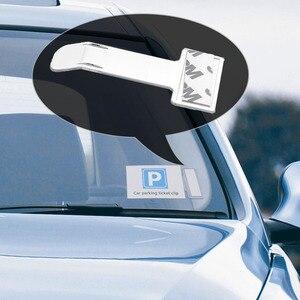 Image 1 - 1Pc רכב רכב חניה כרטיס בעל היתר מדבקת השמשה חלון אטב ערכת רכב אביזרי רכב חניה כרטיס קליפים