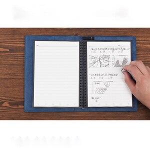 Image 3 - 2019 Riutilizzabili Eraserable Notebook Diario Notepad Annata di Cuoio DELLUNITÀ di elaborazione Elinbook A5 Nota Libro di Carta del Regalo Della Cancelleria Viaggiatore Ufficiale